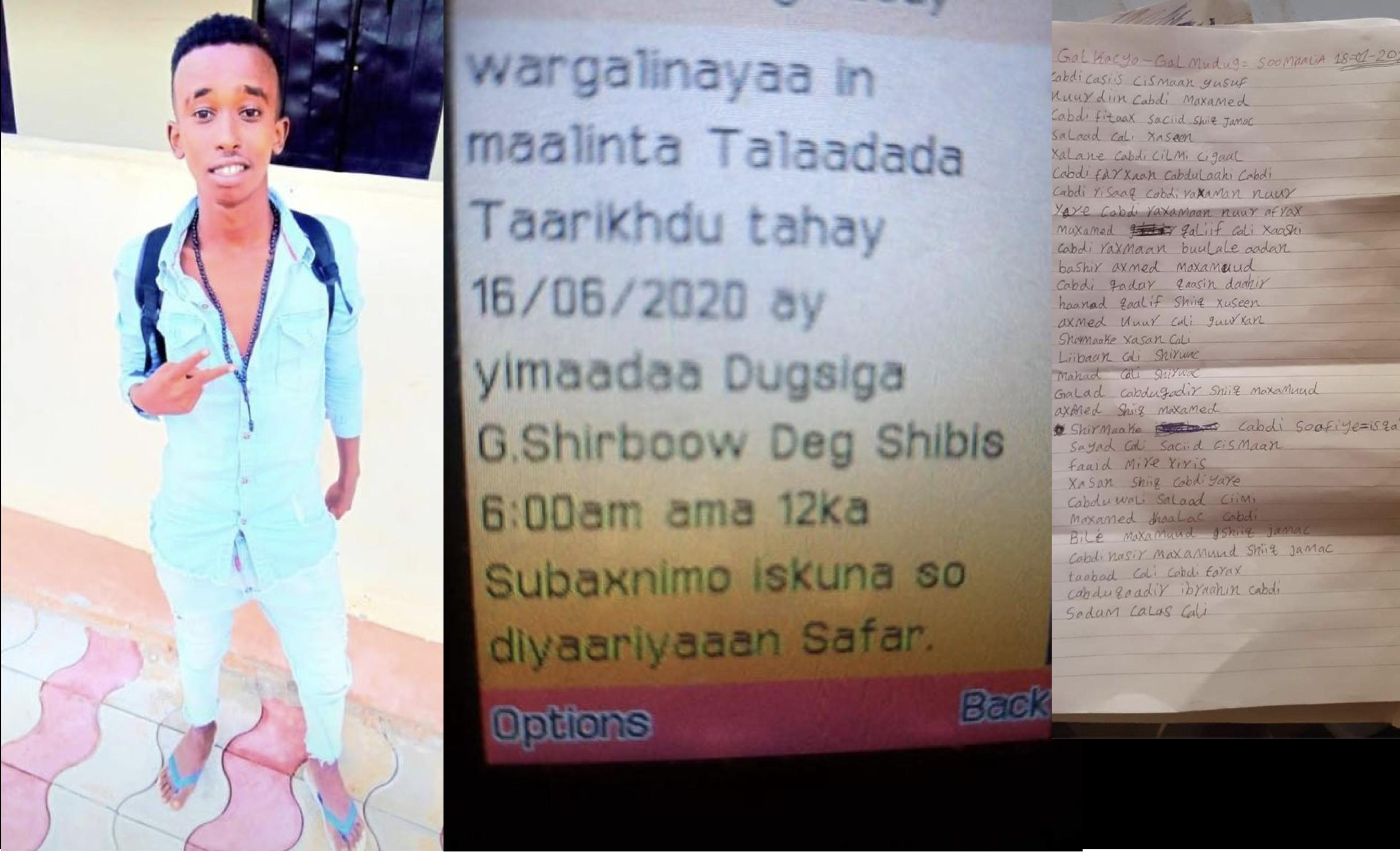 Liiska dhalinyarada la xaday ee Eritrea loo qaaday kadibna la waayay warkooda? qeybta 1-aad