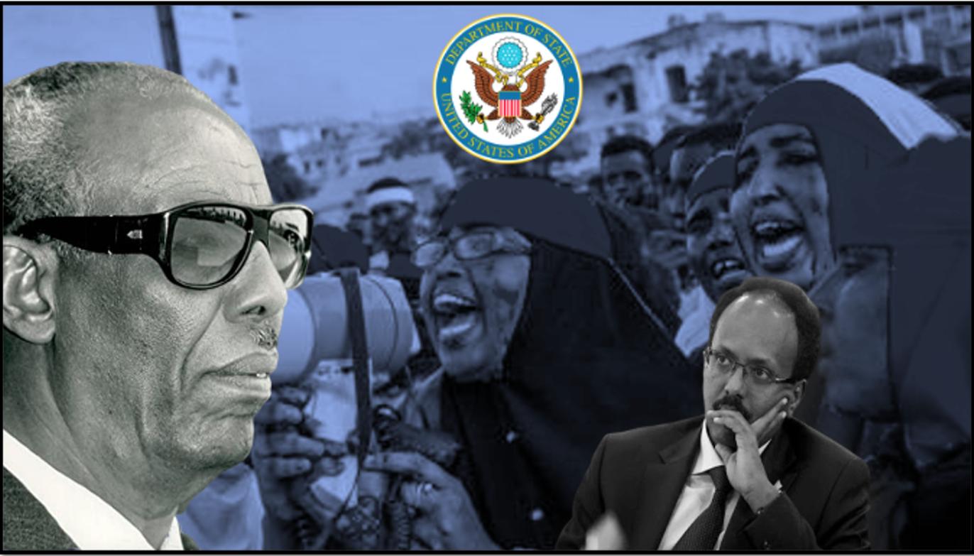 Dowladda Mareykanka oo Farmaajo ku oogtay tacadiyadii Siyad Barre iyo Al-bashiir-kii Sudan ee dimbiyo dagaal iyo tacadiyo ka baxsan xaquuqul insaanka