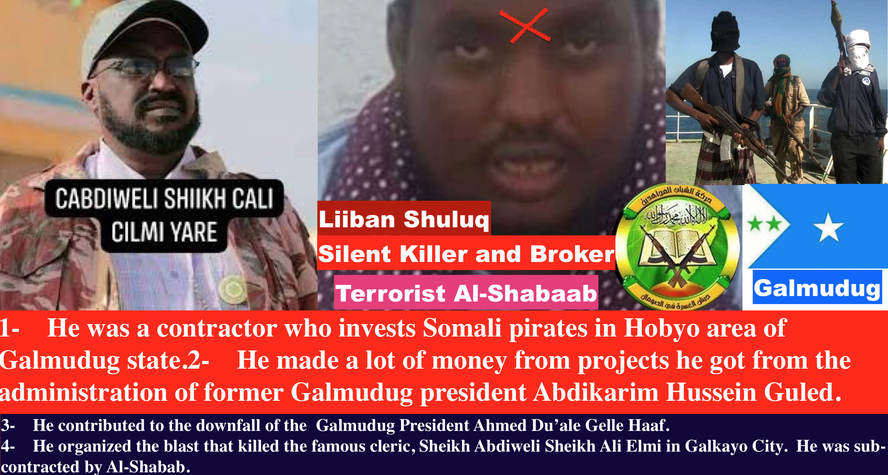 Somalia: Who is the Silent killer of Galmudug State?  Liiban Shuluq.