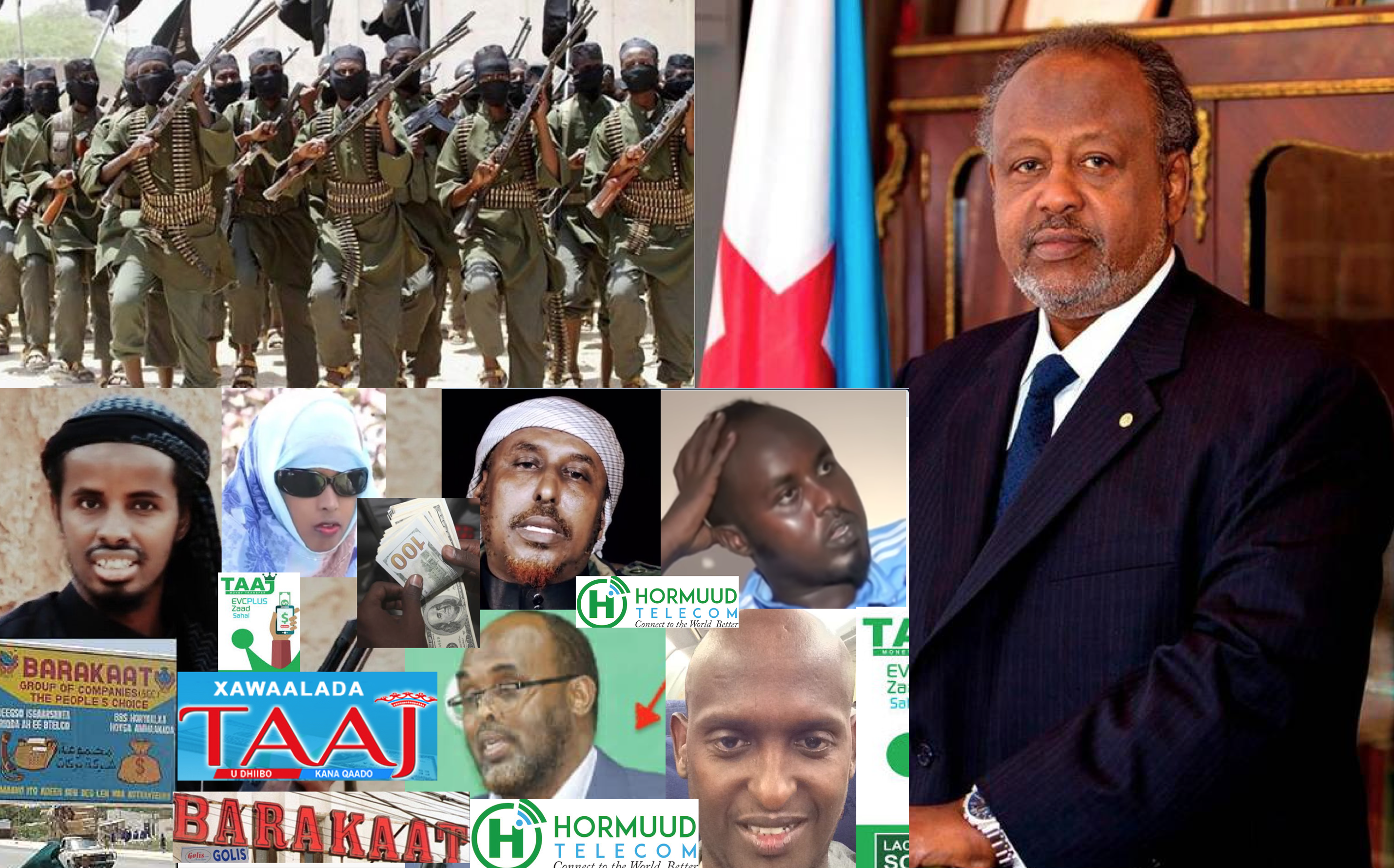 Somalia:The President of Djibouti is the creator of Al-Shabab terror group.