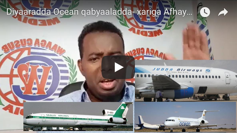 [Daawo] ololaha qabiil ee diyaaradda Ocean iyo Video laga duubay maalintii la qafaalay Afhayeenka Galmudug
