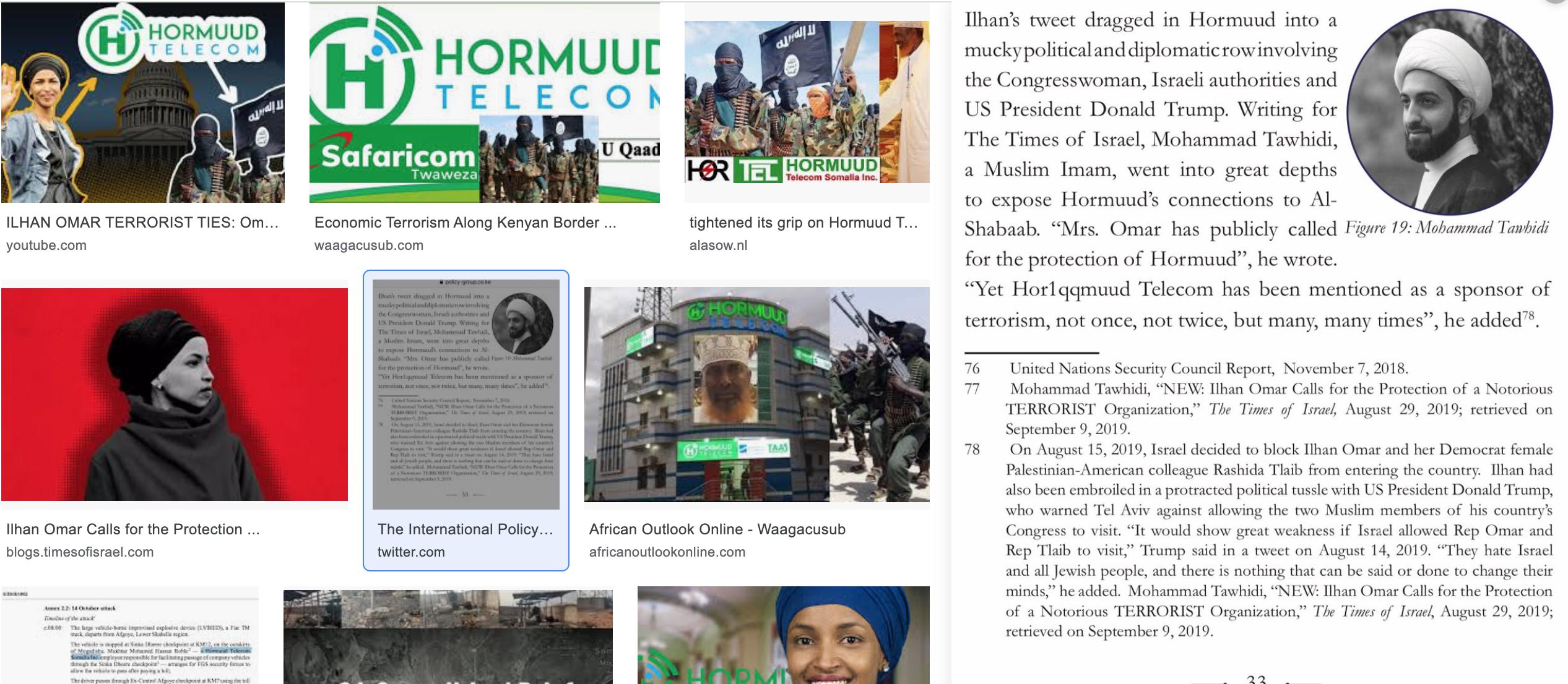 Somalia:Hormuud's Communication Warfare +Terrorism