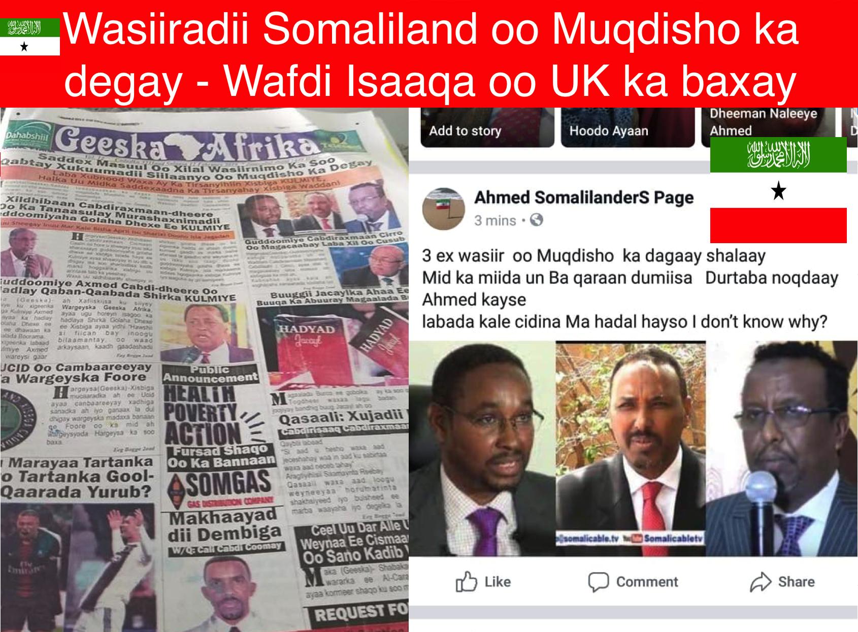 [Topnews:-] Wasiiradii iyo Siyaasiyiintii ugu badnaa ee Reer Somaliland oo Muqdisho ka degay iyo wafdi Isaaqa oo ka baxay UK.