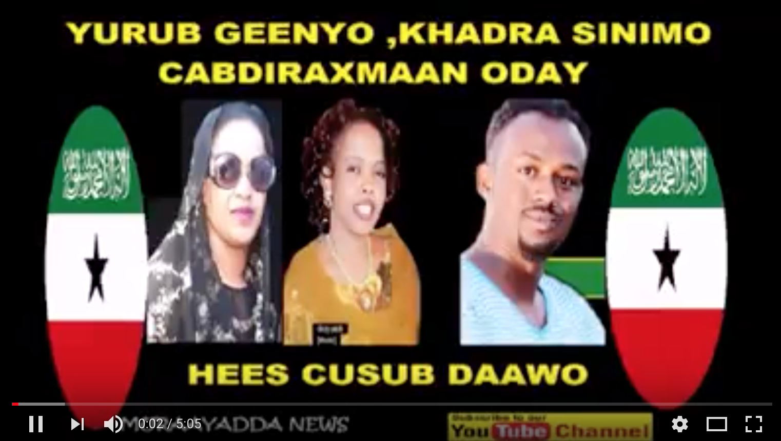 DAAWO Hees Yurub Geenyo Khadro silimo iyo Oday ku garaaceen Muse Biixi iyo Dhiigshiil