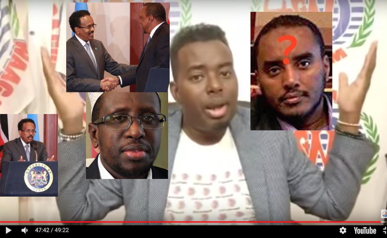 [Daawo] Fahad Yasiin oo wejigabax kala kulmay Madaxweyne Shariif iyo Farmaajo oo aqbalay in dhulka lagu muransan yahay kala qeybsadaan Kenya iyo Somalia