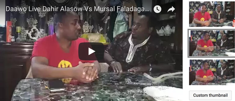 [Daawo Live] Dahir Alasow Vs Mursal Faladagan maxaa kala qabsaday