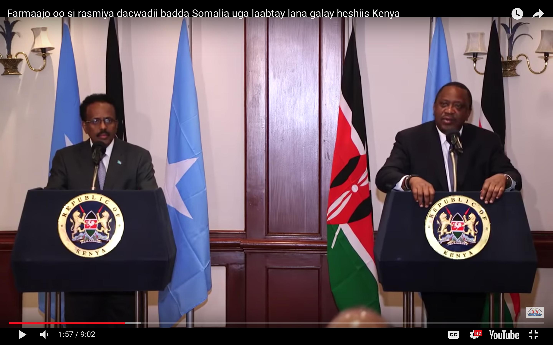 [DAAWO] Farmaajo oo si rasmiya dacwadii badda Somalia uga laabtay lana galay heshiis Kenya
