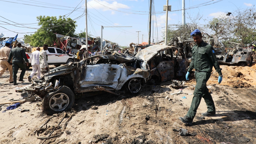 Al-Shabaab militants claim huge Somali bomb attack