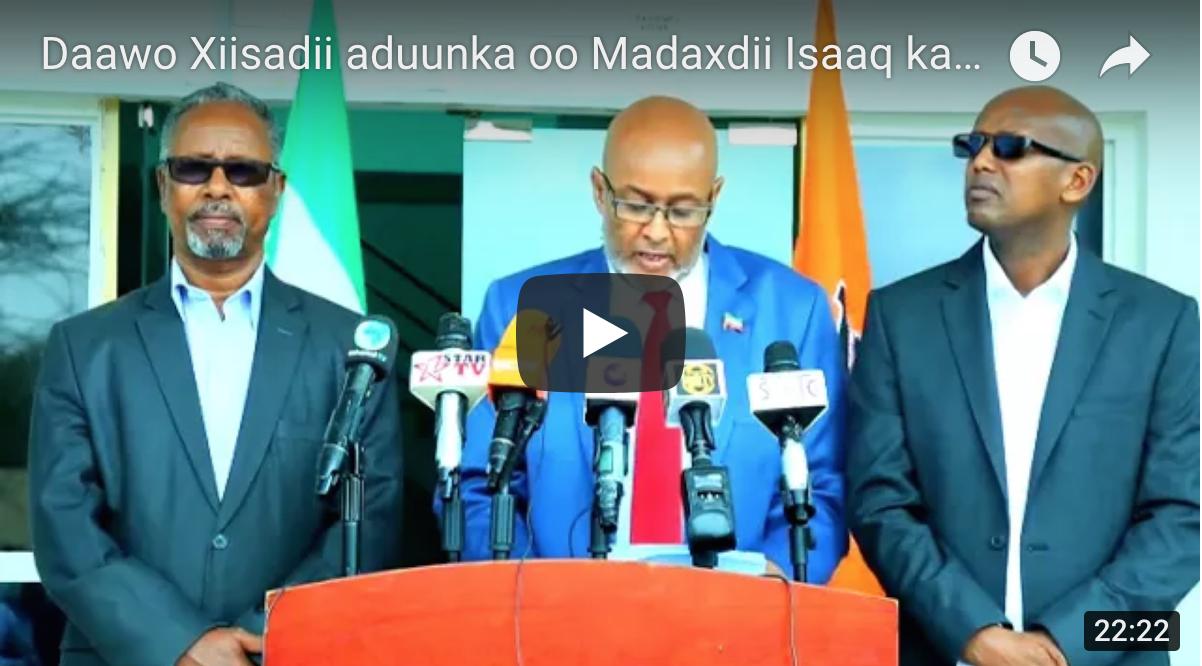 [Daawo] Siilaanyo iyo Muse Biixi oo qiyaano Qaran lagu Maxkamadeeynaa Somaliland iyo xiisada Isaaq ka dhex togan