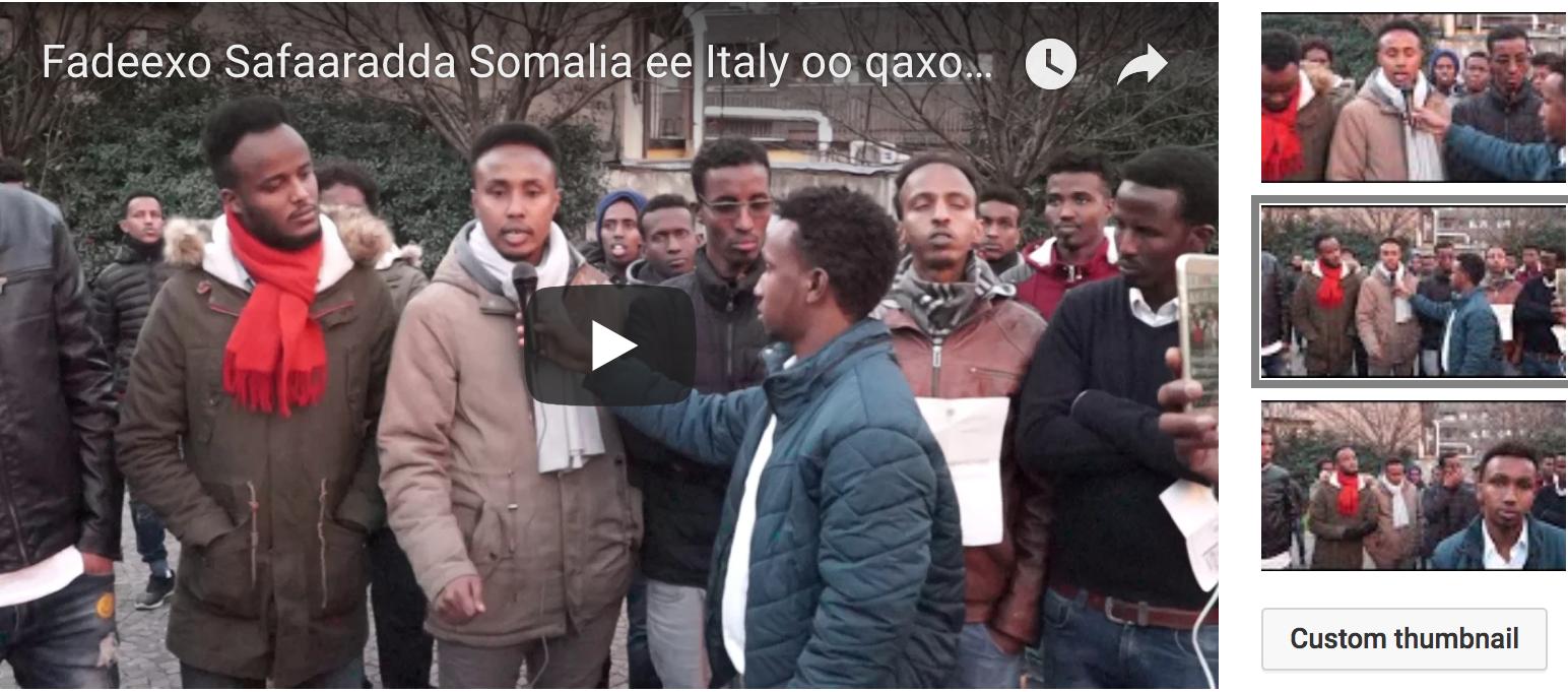 [Daawo] Fadeexo Safiirka Somalia Italy oo sharcigii ka hor istaagay qaxootiga Somalida