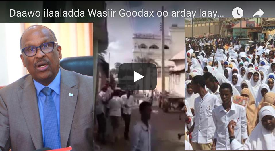 [Daawo] ilaaladda Wasiir Goodax oo arday laayey