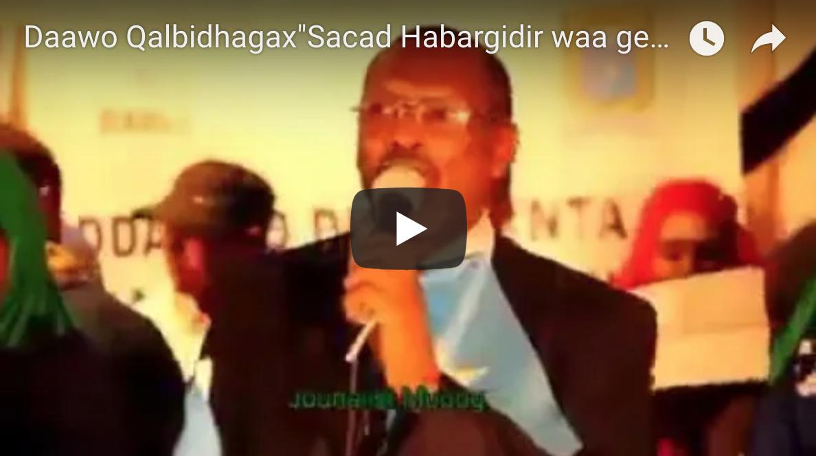 [Daawo] Qalbidhagax oo beesha Sacad Habargidir ku amaanay Geesinimo iyo qadiyad Somalinimo