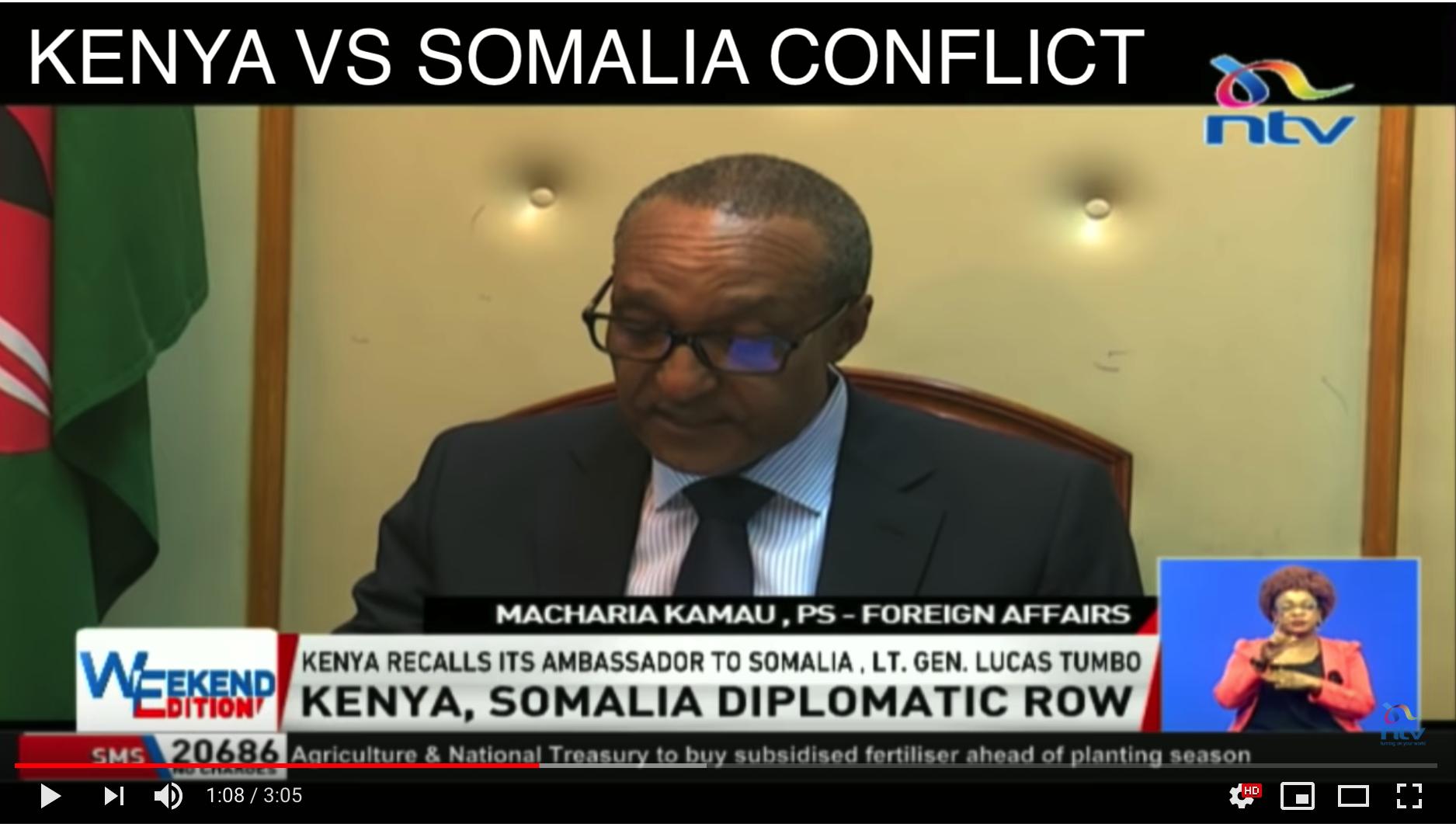 [Daawo] Kenya oo si jees jeesa uga hadashay ceyrintii Safiirka Somalia iyo sababta khilaafka?