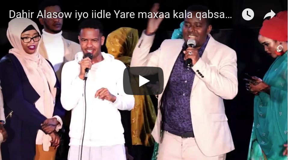 [DAAWO] Dahir Alasow iyo iidle Yare maxaa kala qabsaday Showgii Nairobi