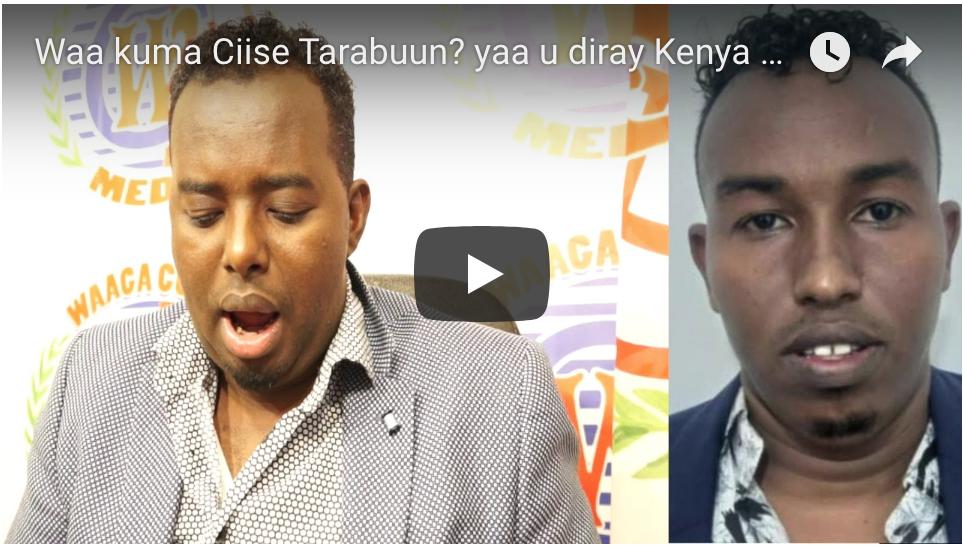 [DAAWO Waa kuma Ciise Tarabuun?] yaa u diray Kenya by Dahir Alasow? Investigative report