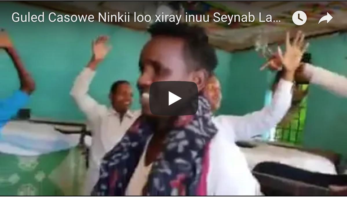 [Daawo] Guled Casowe Ninkii Jeel Ogadeen loogu xiray inuu Seynab Labadhagax ka duubay Video galmo qasaba oo booqday qolkii lagu cadaabay
