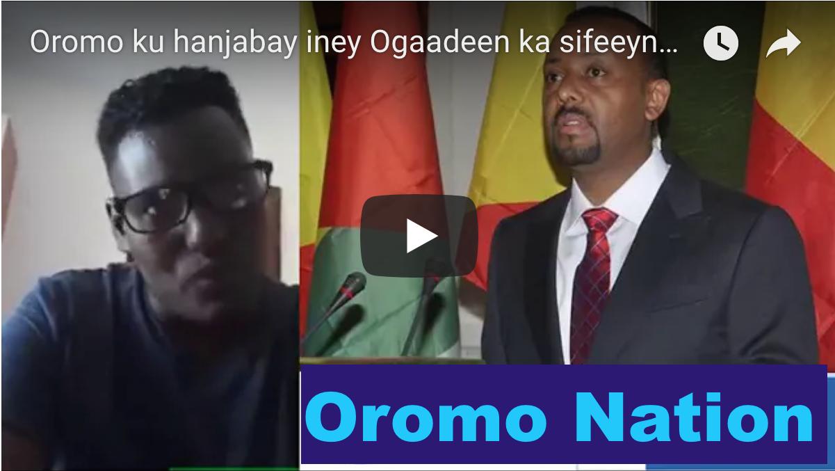 [Daawo Oromo] oo ku hanjabtay iney Ogaadeen ka sifeeynayaan Somali Galbeed iyo Hanjbaadeey Dahir Alasow u direen