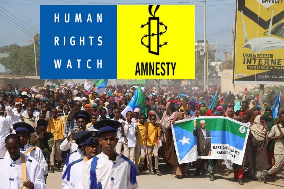 [Topnews:-] Amnesty iyo Human rights oo ka aamusay cunaqabateynta la saaray shacabka Jubbaland.